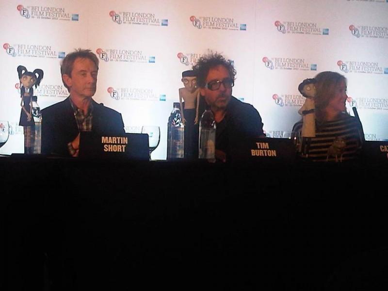 Tim Burton, Martin Short e Catherine O'Hara in conferenza a Londra per Frankenweenie