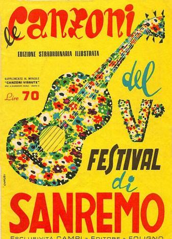 Festival di Sanremo 1955 - una rivista con le canzoni della kermesse canora