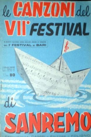 Festival di Sanremo 1957 - una rivista con le canzoni della kermesse canora
