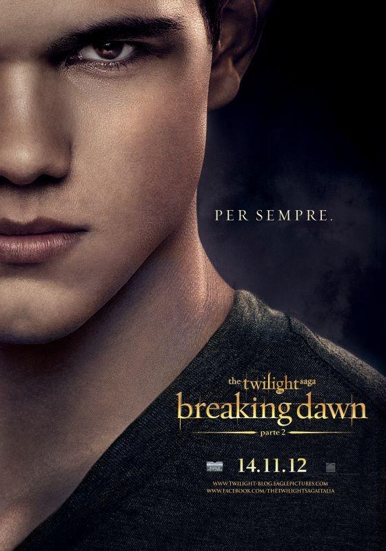 The Twilight Saga: Breaking Dawn - Parte 2: Taylor Lautner nel character poster italiano di Jacob