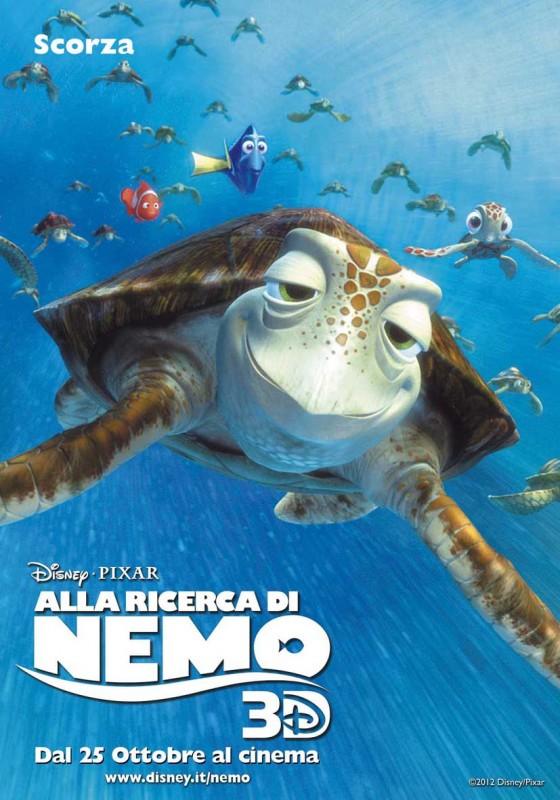 Alla ricerca di Nemo in 3D: il character poster italiano di Scorza