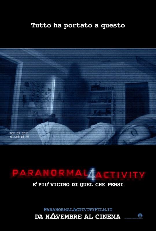 Paranormal Activity 4: la locandina italiana del film