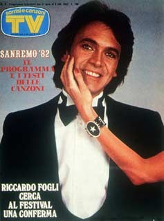 Sanremo 82: Riccardo Fogli sulla copertina di Tv Sorrisi e Canzoni