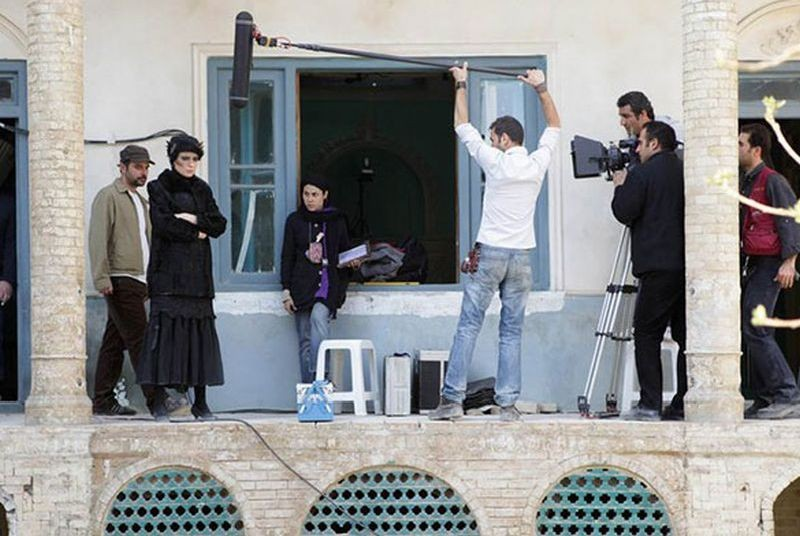 The last step: Leila Hatami e Ali Mosaffa sul set durante le riprese