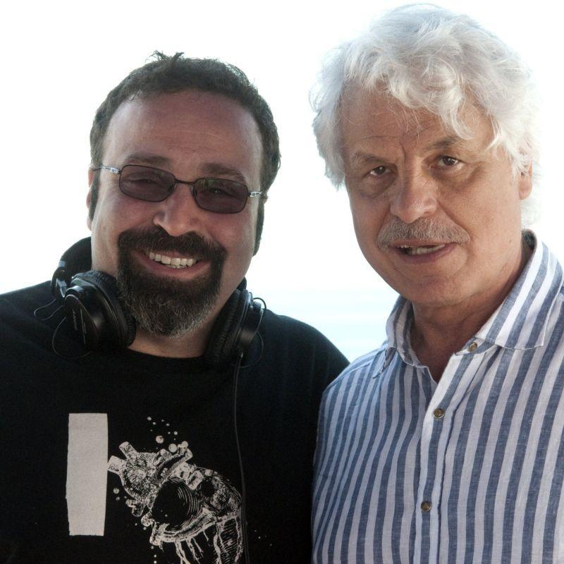 Viva l'Italia: il regista Massimiliano Bruno insieme a Michele Placido in una foto promozionale
