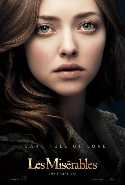 Les Misérables: ecco la nuova locandina che mostra Amanda Seyfried nel ruolo di Cosette