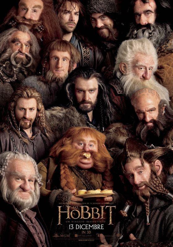 Lo Hobbit: un viaggio inaspettato, il character poster italiano della compagnia dei nani