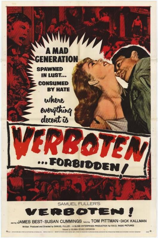 Verboten, Forbidden, Proibito: la locandina del film