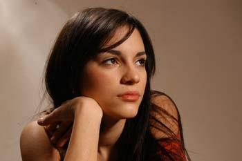 Lavinia Guglielman in una foto scattata sul set