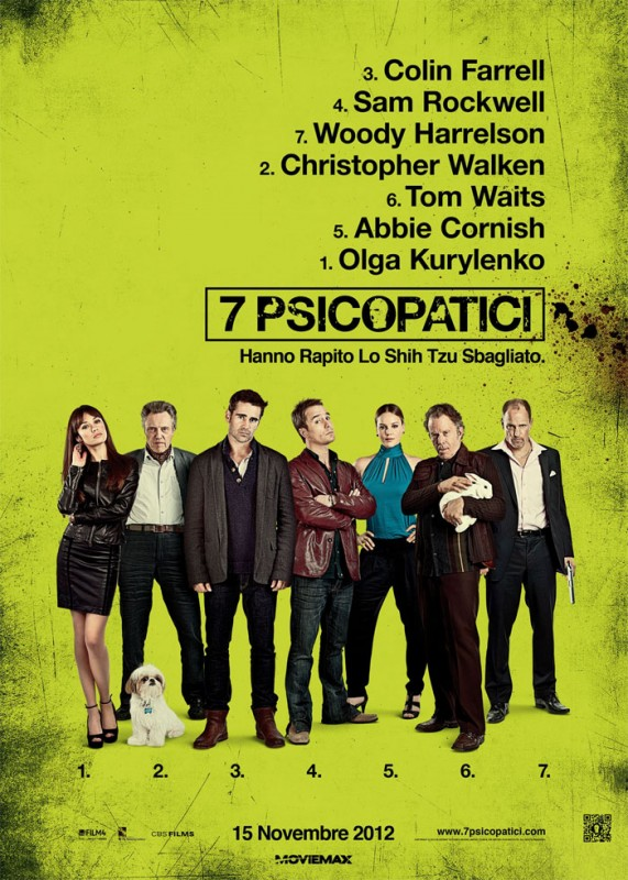 7 psicopatici: la locandina italiana