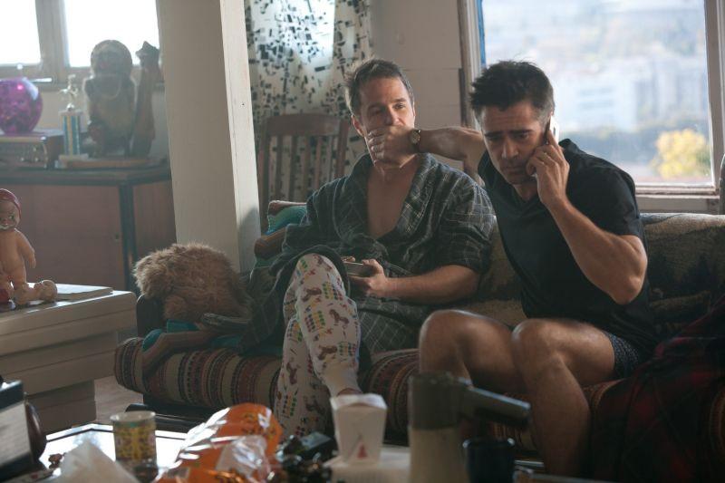 Colin Farrell con Sam Rockwell in una divertente scena di 7 psicopatici