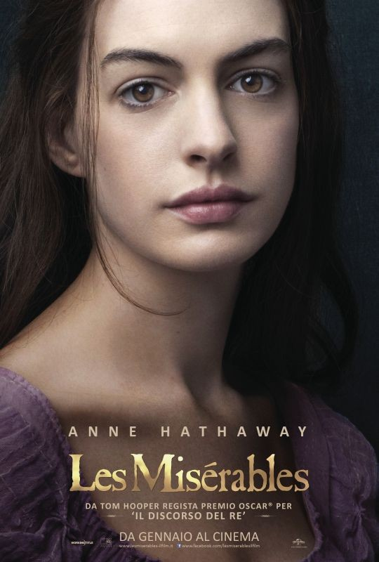 Les Misérables: il character poster italiano con Anne Hathaway nel ruolo di Fantine