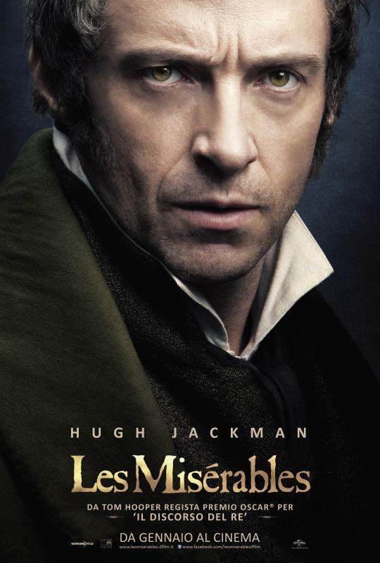 Les Misérables: il character poster italiano con Hugh Jackman nel ruolo di Jean Valjean