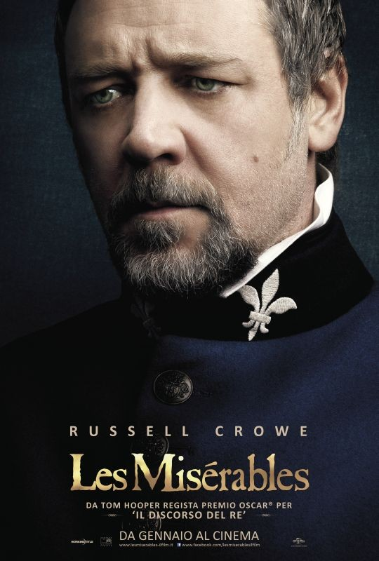 Les Misérables: il character poster italiano con Russell Crowe nel ruolo di Javert