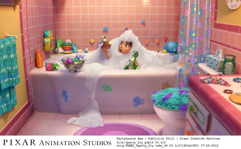 Non c'è festa senza Rex: una scena del corto Pixar