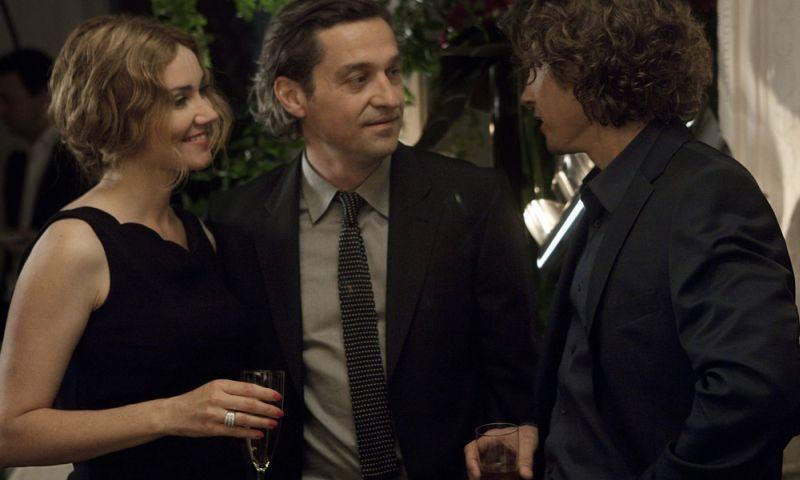 Paris Manhattan: Louis-Do de Lencquesaing, Marine Delterme e Yannick Soulier in una scena del film