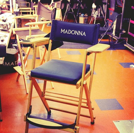 La sedia di Madonna nel backstage del MDNA Tour, 2012