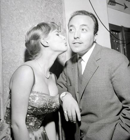 Sanremo 1957 - Gino Latilla con Marisa Allasio