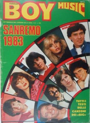 Sanremo 1983 sulla copertina di una rivista