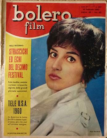 Sanremo 1960, Mina sulla copertina di TV Bolero