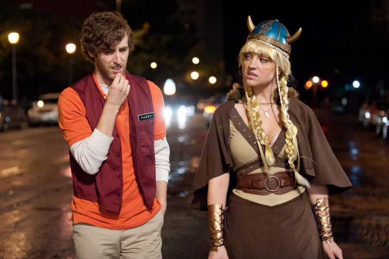 Jane Levy con Thomas Middleditch in Fun Size