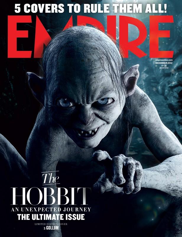 Lo Hobbit: un viaggio inaspettato - La copertina di Empire dedicata a Gollum
