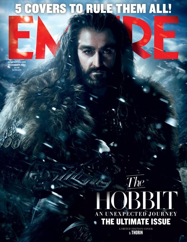 Lo Hobbit: un viaggio inaspettato - La copertina di Empire dedicata a Thorin