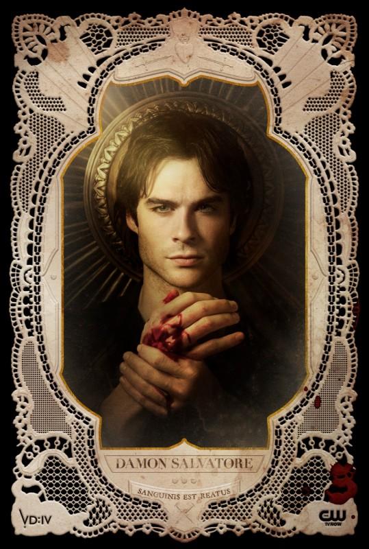 The Vampire Diaries: un poster per il personaggio di Damon, interpretato da Ian Somerhalder