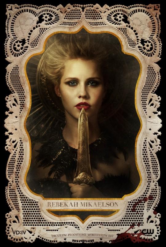 The Vampire Diaries: un poster per il personaggio di Rebekah, interpretato da Claire Holt