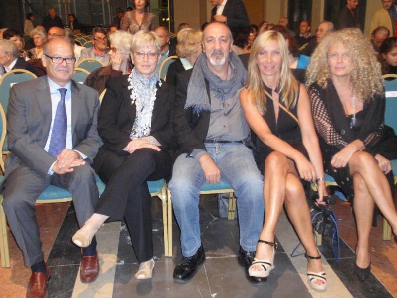 Enzo De Camillis (al centro) al Premio Castrocaro per il cortometraggio UNO STUDENTE DI NOME ALESSANDRO
