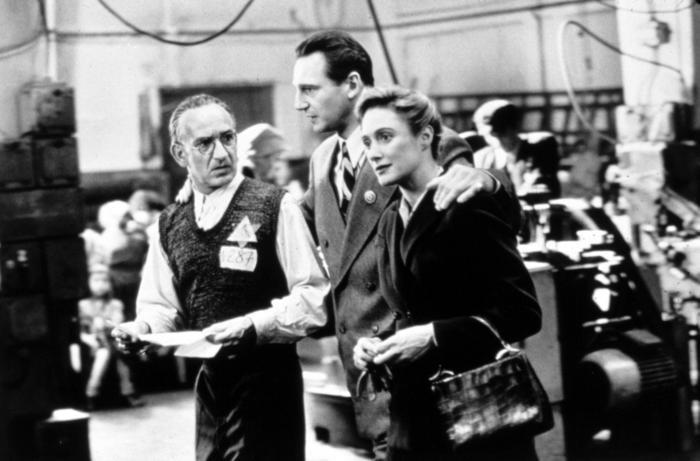 Schindler's List: Caroline Goodall con Liam Neeson e Ben Kingsley