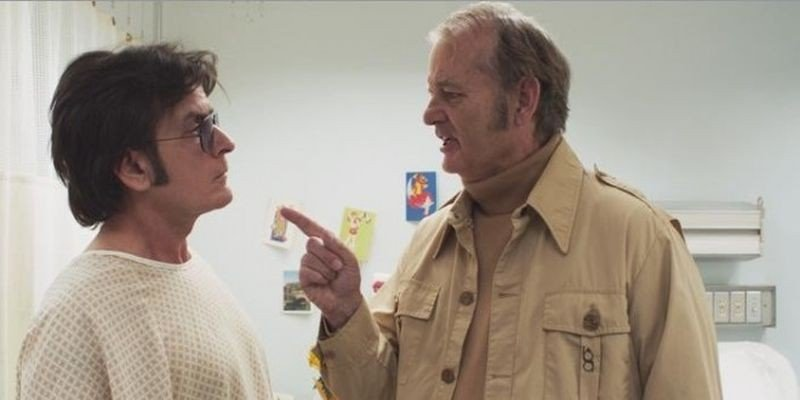 A Glimpse Inside the Mind of Charles Swan III: Charlie Sheen e Bill Murray in una scena