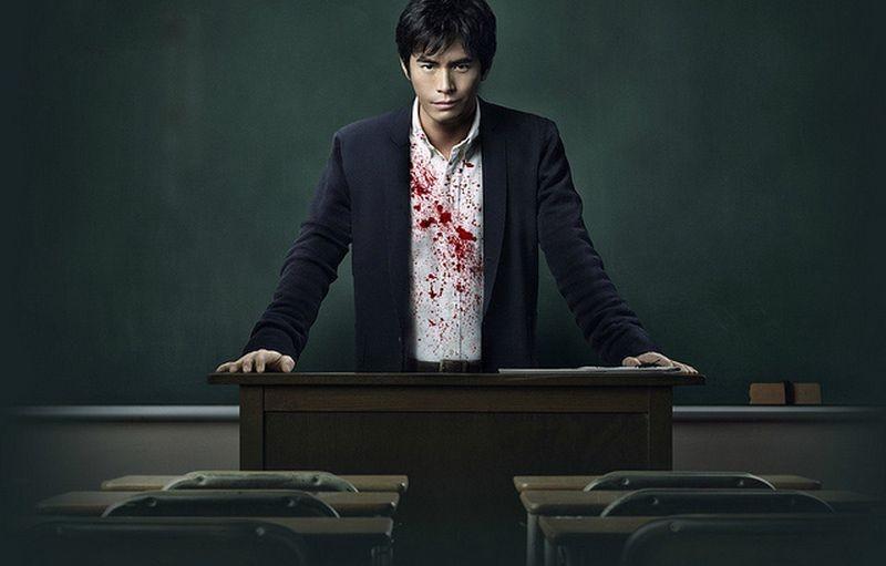 Lessons of Evil: Hideaki Itô in una scena del film nei panni di un insegnante malvagio