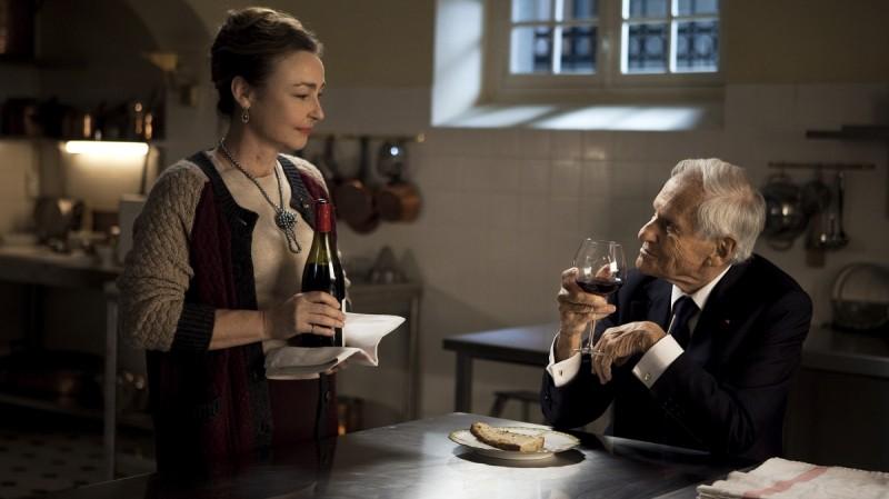 Jean d'Ormesson e Catherine Frot in una scena di Les Saveurs du Palais