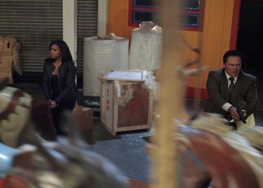 Kevin Chapman con Taraji P. Henson in un momento dell'episodio Bury the Lede della serie TV Person of Interest