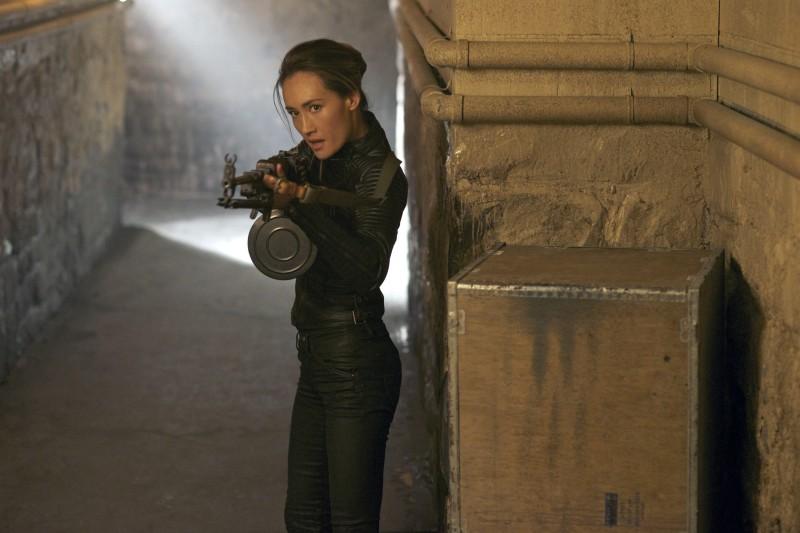 Maggie Q in un'immagine promozionale dell'episodio Consequences della serie TV Nikita