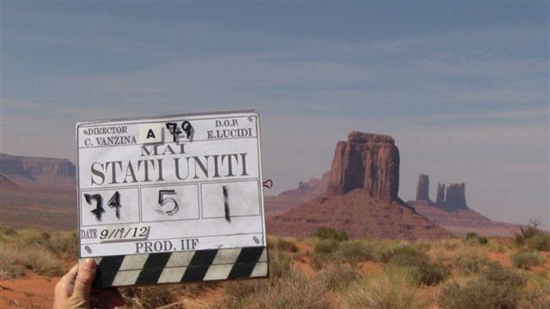 Mai stati uniti: una foto dal set del film