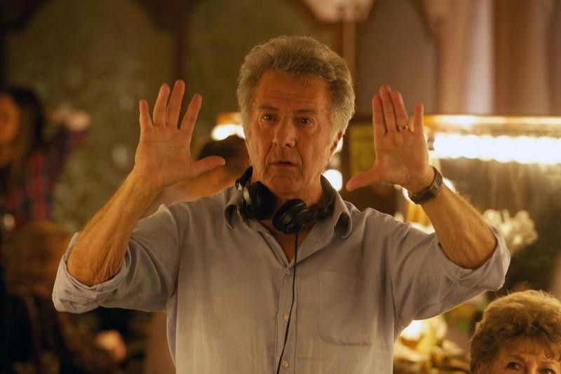 Quartet: il regista del film Dustin Hoffman sul set