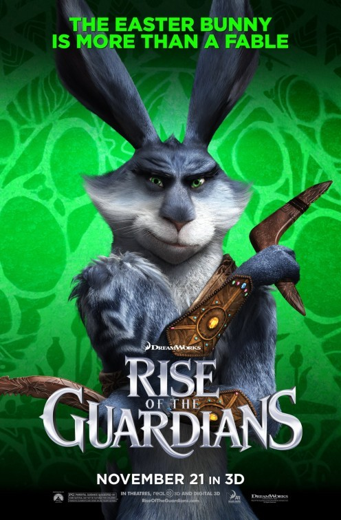 Rise of the Guardians: character poster USA per Easter Bunny
