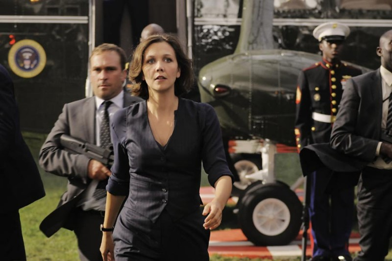 Una preoccupata Maggie Gyllenhaal in White House Down