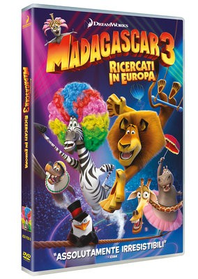 La copertina di Madagascar 3: ricercati in Europa (dvd)