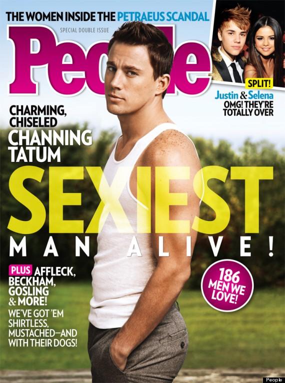 Channing Tatum sulla cover di People che lo celebra come il più sexy del 2012.