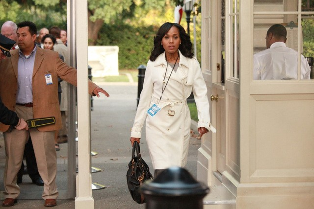 Kerry Washington in una scena dell'episodio Grant: For the People della prima stagione di Scandal