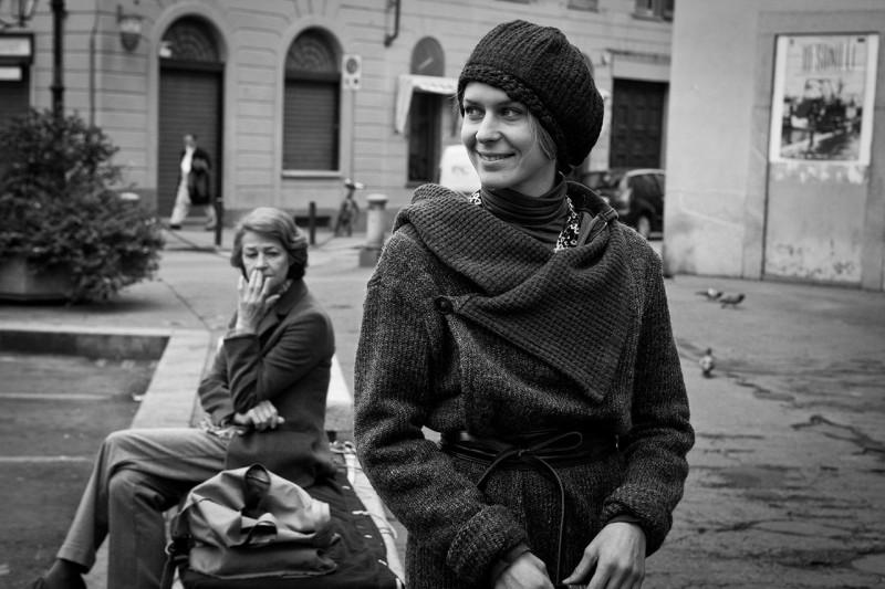 Tutto parla di te: Elena Radonicich e Charlotte Rampling in una foto promozionale in bianco e nero
