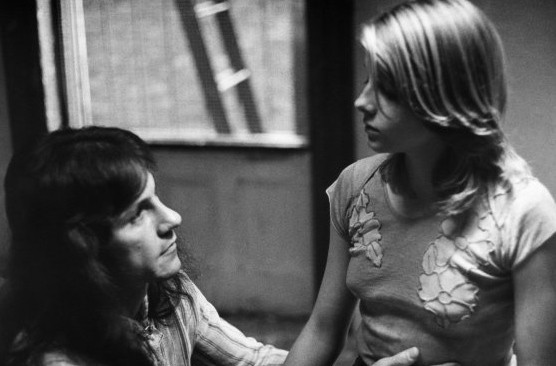 Jodie Foster e Harvey Keitel in Taxi Driver (1976)