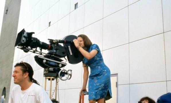 Jodie Foster sul set de Il mio piccolo genio (Little Man Tate)