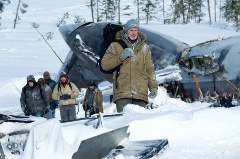 Liam Neeson in una scena dell'avventuroso The Grey