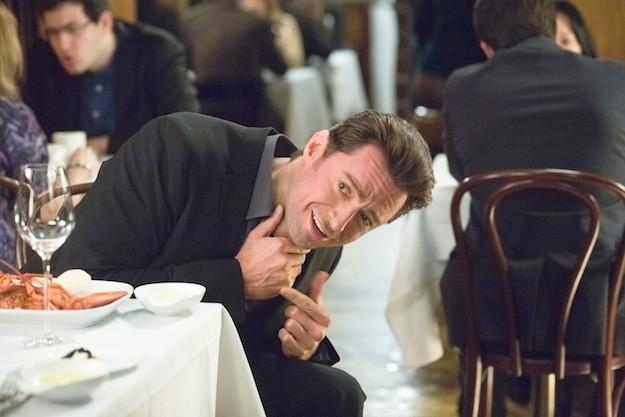 Movie 43: Hugh Jackman a tavola sembra non stare molto bene