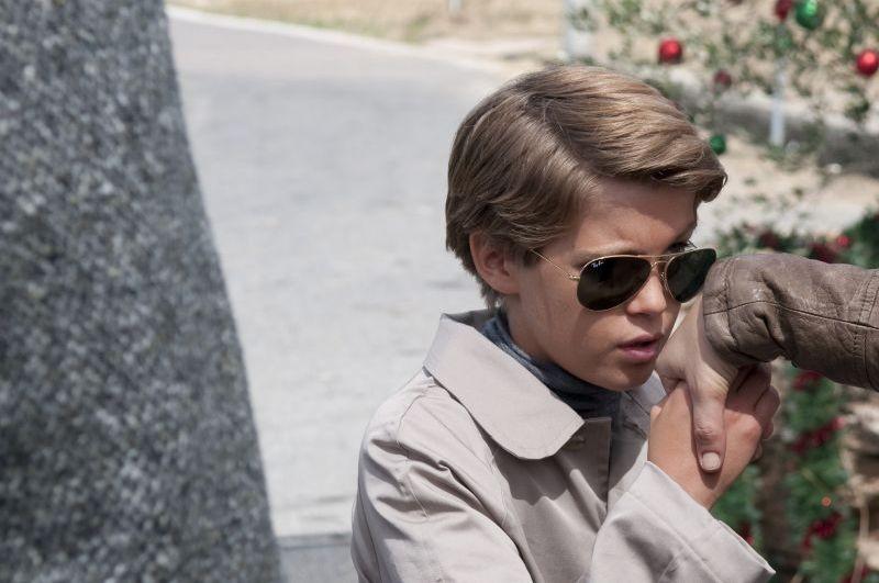 Una famiglia perfetta: il piccolo Lorenzo Zurzolo in un'immagine del film