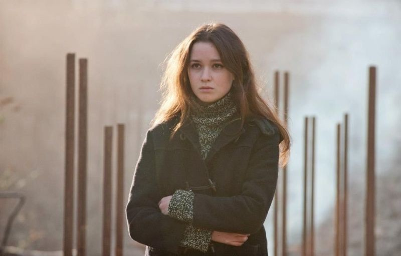 Alice Englart, co-protagonista di Ginger & Rosa, in una scena